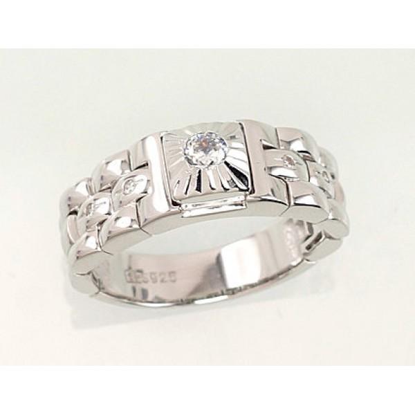 """Vīriešu sudraba gredzens """"Averons V"""" no 925 proves sudraba"""