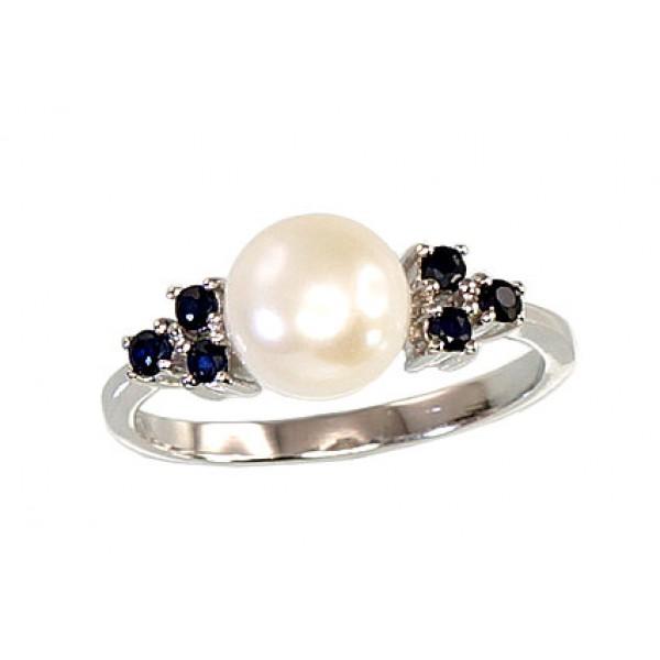 """Sudraba gredzens ar pērlēm """"Notika II"""" no 925 proves sudraba"""