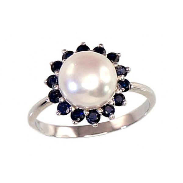 """Sudraba gredzens ar pērlēm """"Maigums II"""" no 925 proves sudraba"""