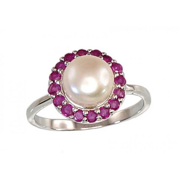 """Sudraba gredzens ar pērlēm """"Maigums"""" no 925 proves sudraba"""