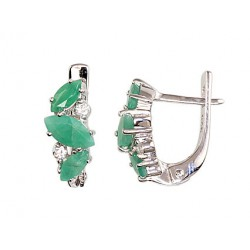 "Sudraba auskari ar smaragdu ""Darsī"" no 925 proves sudraba"