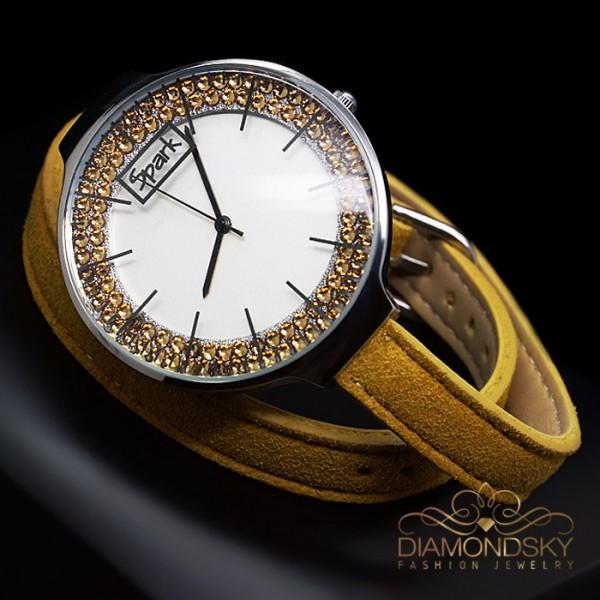 "Rokas pulkstenis ""Sentella (Golden Shadow)"" ar Swarovski™ kristāliem"