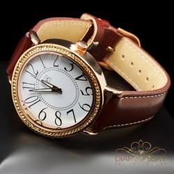 """Rokas pulkstenis """"Vilnis (Golden Shadow)"""" ar Swarovski™ kristāliem"""