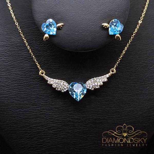 """Komplekts """"Eņģeļa Spārni"""" ar Swarovski™ kristāliem"""