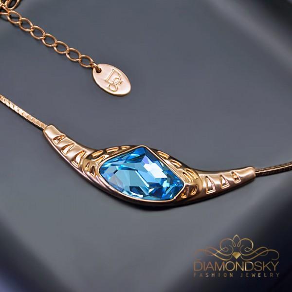"""Kulons """"Medeja (Aquamarine Blue)"""" ar Swarovski™ kristāliem"""