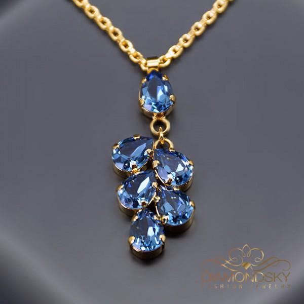"Kulons ""Amber II (Denim Blue)"" ar Swarovski™ kristāliem"