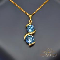 """Kulons """"Piena Ceļš (Aquamarine Blue)"""" ar Swarovski™ kristāliem"""
