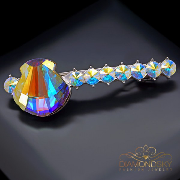 """Matu sprādze """"Kristalīna (Paradise Shine)"""" ar Swarovski™ kristāliem"""