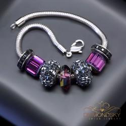 """Aproce """"BeCharmed Pavé Mini V"""" ar Swarovski™ pērllītēm"""