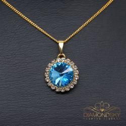 """Kulons """"Klaris (Aquamarine Blue)"""" ar Swarovski™ kristāliem"""
