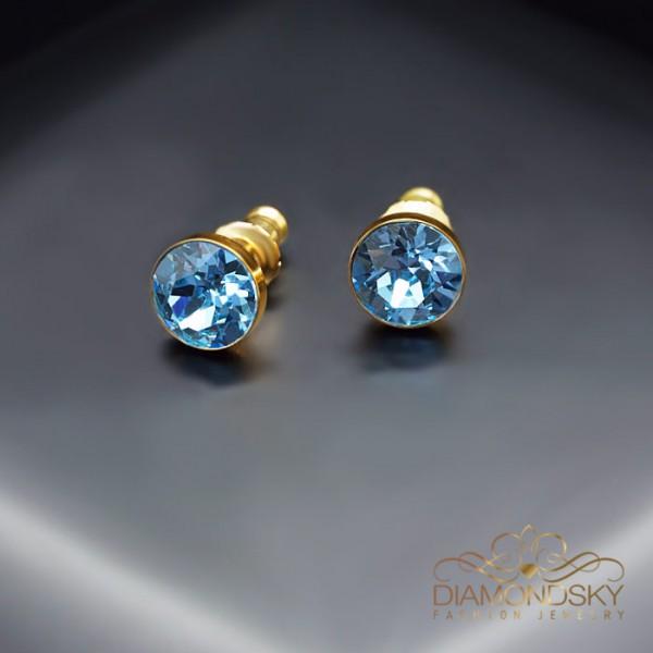 "Auskari ""Klasika (Aquamarine Blue)"" ar Swarovski™ kristāliem"