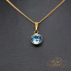 """Kulons """"Klasika (Aquamarine Blue)"""" ar Swarovski™ kristāliem"""