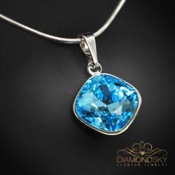 """Kulons """"Apžilbinošs Spīdums IV (Aquamarine Blue)"""" ar Swarovski™ kristāliem"""