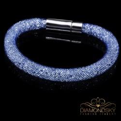 """Aproce """"Stardust (Crystal / Navy Blue)"""" ar Swarovski™ kristāliem"""