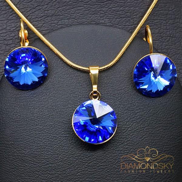 """Komplekts """"Klaris II (Sapphire)"""" ar Swarovski™ kristāliem"""