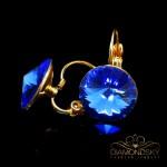 """Auskari """"Klaris II (Sapphire)"""" ar Swarovski™ kristāliem"""