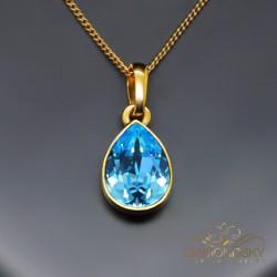 """Kulons """"Kristāla Lāse (Aquamarine Blue)"""" ar Swarovski™ kristāliem"""