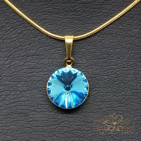 """Kulons """"Klaris II (Aquamarine Blue)"""" ar Swarovski™ kristāliem"""