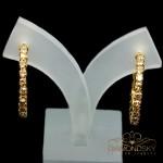 """Auskari """"Mīlestības Dāvana (Golden Shadow)"""" ar Swarovski™ kristāliem"""