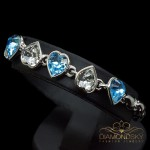 "Aproce ""Tieši Tev II (Aquamarine Blue)"" ar Swarovski™ kristāliem"