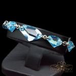 "Aproce ""Hiberboreja III (Aquamarine Blue)"" ar Swarovski™ kristāliem"