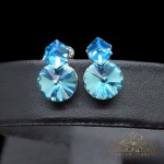 """Auskari """"Mirāža (Aquamarine Blue)"""" ar Swarovski™ kristāliem"""