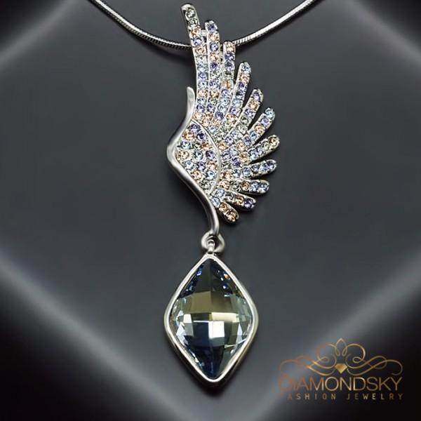 """Kulons """"Eņģeļa Spārni II"""" ar Swarovski™ kristāliem"""
