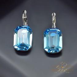 "Auskari ""Lurdes (Aquamarine Blue)"" ar Swarovski™ kristāliem"