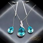 "Komplekts ""Lagūna (Light Turquoise)"" ar Swarovski™ kristāliem"