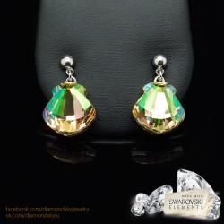 """Auskari """"Kristalīna (Luminous Green)"""" ar Swarovski™ kristāliem"""