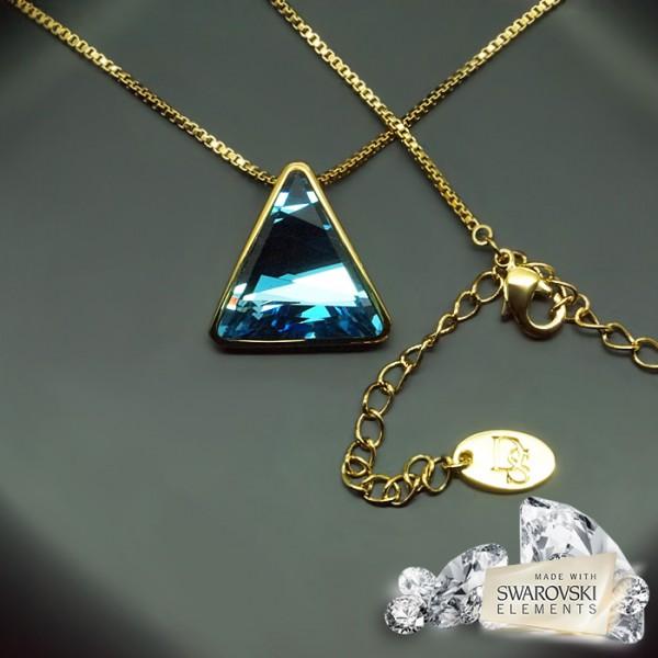 "Kulons ""Osiris II (Aquamarine Blue)"" ar Swarovski™ kristāliem"
