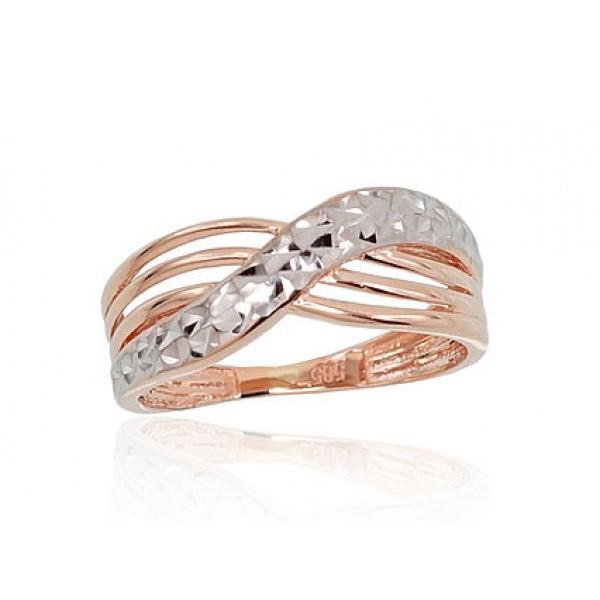 """Zelta gredzens """"Alpīna IV"""" no 585 proves sarkanā zelta"""