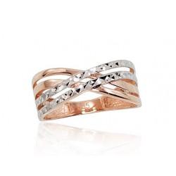 """Zelta gredzens """"Alpīna VI"""" no 585 proves sarkanā zelta"""