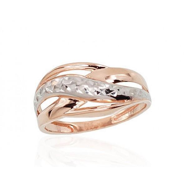 """Zelta gredzens """"Alpīna VII"""" no 585 proves sarkanā zelta"""