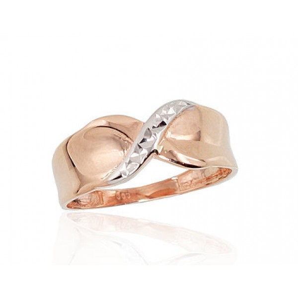 """Zelta gredzens """"Alpīna IX"""" no 585 proves sarkanā zelta"""
