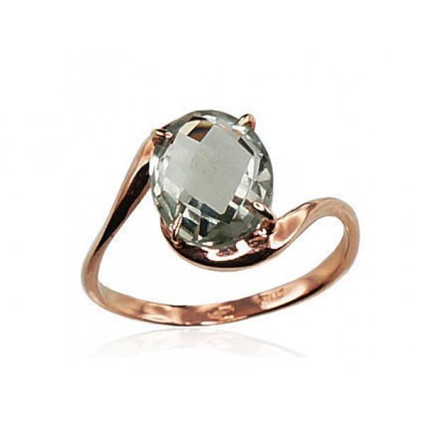 """Zelta gredzens ar ametistu """"Komēta IX"""" no 585 proves sarkanā zelta"""