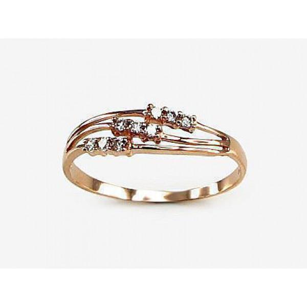 """Zelta gredzens ar topāzu """"Burvīgā Izcilība"""" no 585 proves sarkanā zelta"""