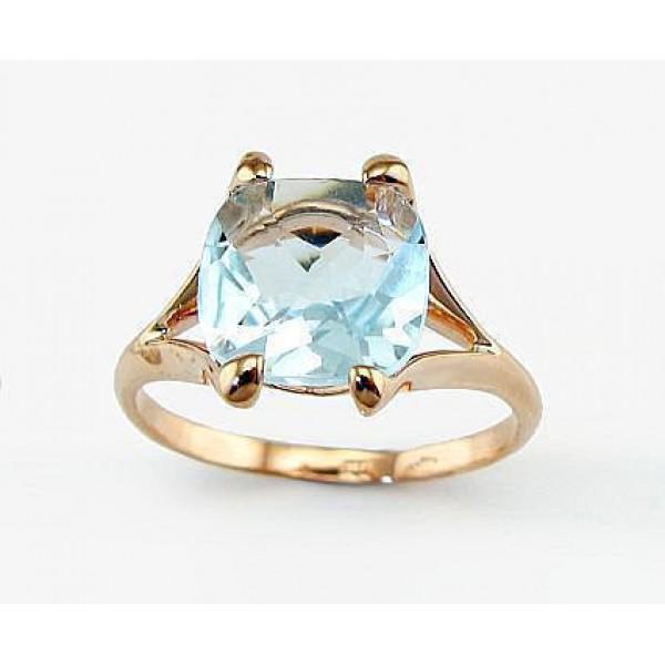 "Zelta gredzens ar topāzu ""Īsta Mīlestība II"" no 585 proves sarkanā zelta"