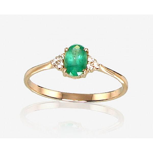 """Zelta gredzens ar briljantiem """"Izsmālcinātība IX"""" no 585 proves sarkanā zelta"""