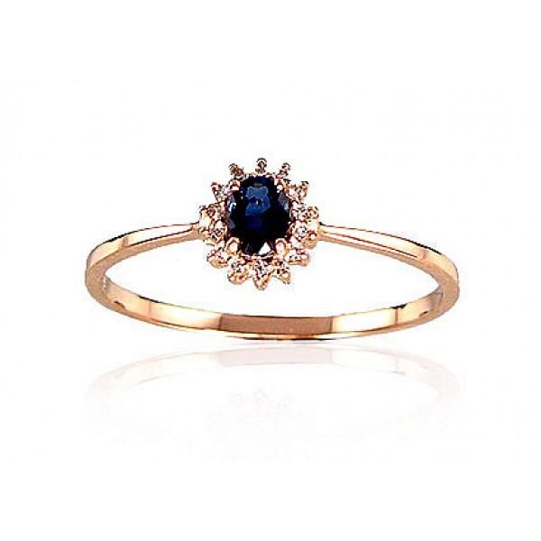 "Zelta gredzens ar briljantiem ""Ferro VI"" no 585 proves sarkanā zelta"