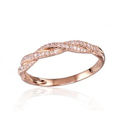 """Zelta gredzens ar briljantiem """"Alpīna"""" no 585 proves sarkanā zelta"""