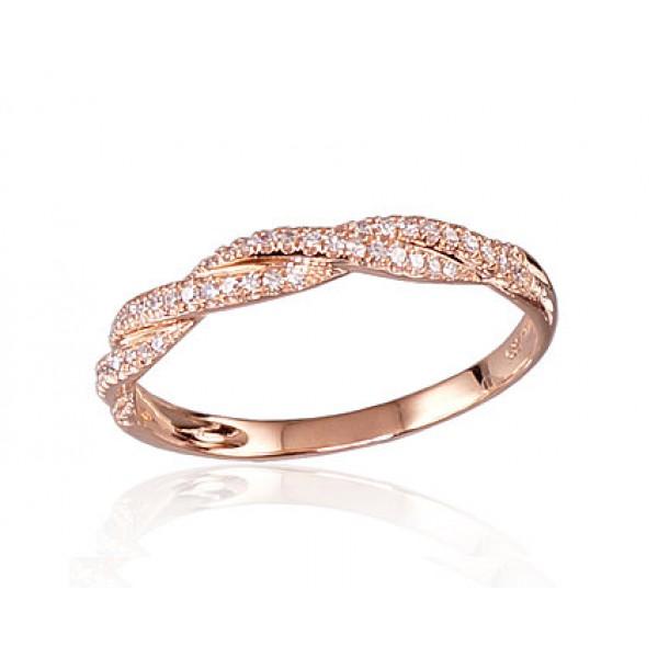 """Zelta gredzens """"Alpīna"""" no 585 proves sarkanā zelta"""