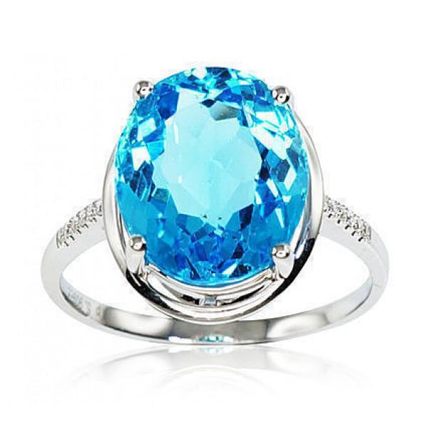 """Zelta gredzens ar briljantiem """"Adele III"""" no 750 proves baltā zelta"""