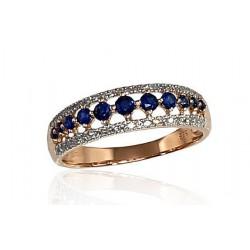 """Zelta gredzens ar briljantiem """"Kamēlija III"""" no 585 proves sarkanā zelta"""