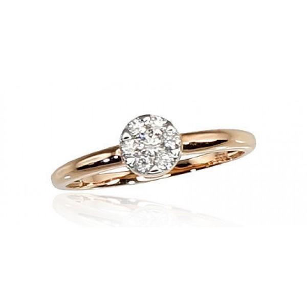 """Zelta gredzens ar briljantiem """"Grācija IV"""" no 585 proves sarkanā zelta"""