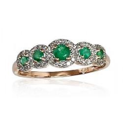 """Zelta gredzens ar briljantiem """"Dženija VIII"""" no 585 proves sarkanā zelta"""