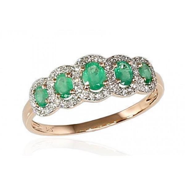 """Zelta gredzens ar briljantiem """"Dženija IV"""" no 585 proves sarkanā zelta"""