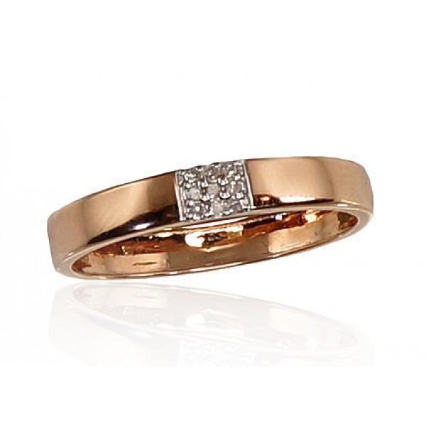 """Zelta gredzens ar briljantiem """"Mīlestības Noslēpums II"""" no 585 proves sarkanā zelta"""
