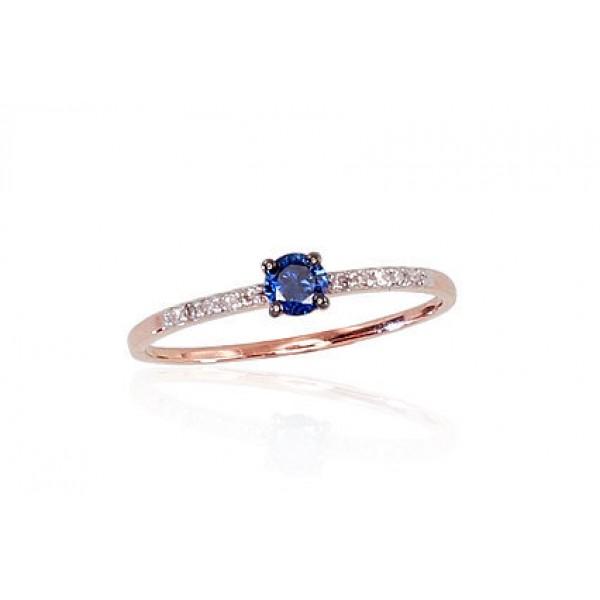 """Zelta gredzens ar briljantiem """"Jaunā Klasika VI"""" no 585 proves sarkanā zelta"""