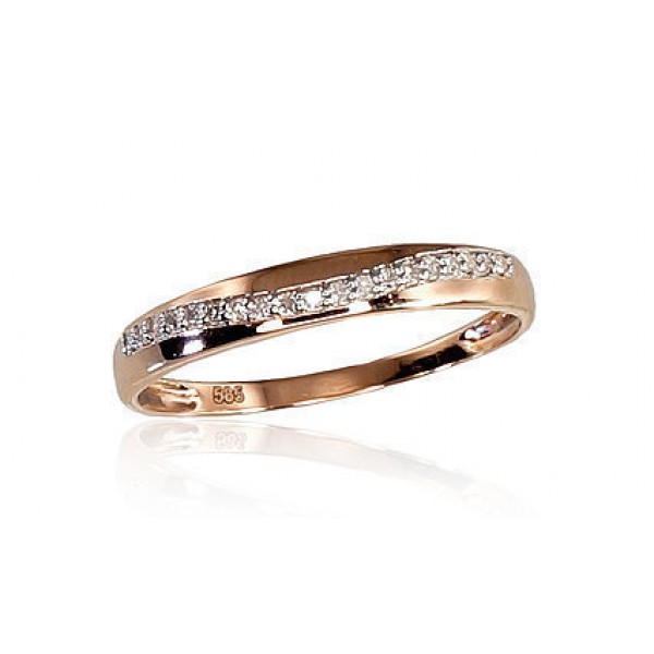 "Zelta gredzens ar briljantiem ""Zelta Vilnis XI"" no 585 proves sarkanā zelta"